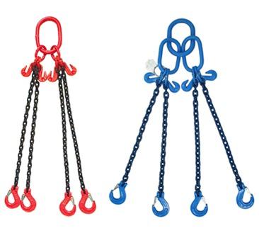 Chain Slings 4 Leg, 3.1 to 67 tonne