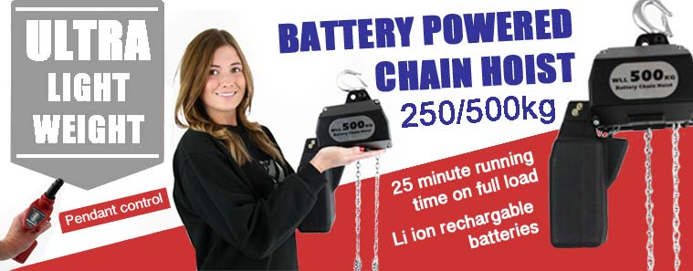 battery chain hoist