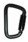 Black Twist Lock Steel Karabiner