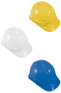 Safety Hardhat, HDPE Outer Shell with 6 point PE Harness