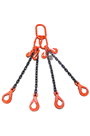 3.15 tonne 4Leg Chainsling, Adjusters c/w Safety Hooks