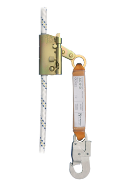 Vertical Safety line with guided fall arrester