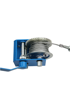 Hand Winch 2500LB C/W 7.6mtr Wire Rope