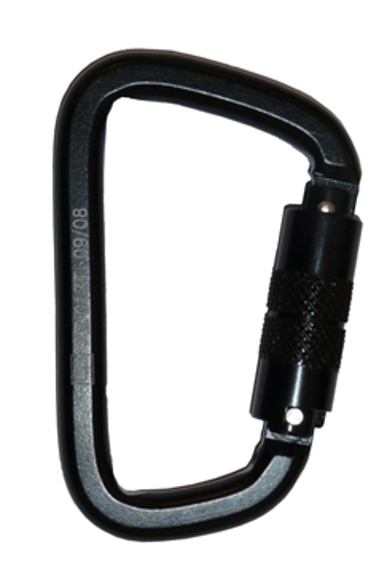 Black Twist Lock Steel Karabiner
