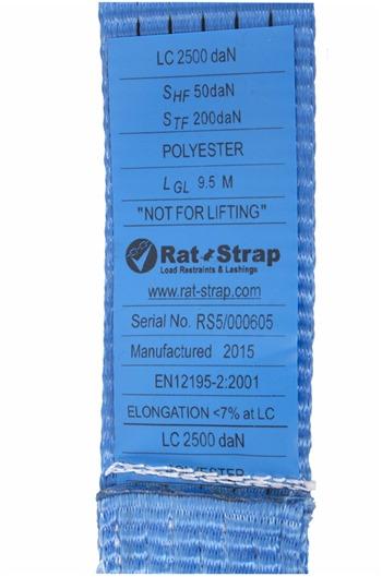 Ratchet Lashing Straps 5000kg MBS, Claw hooks.