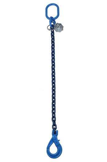 1.4tonne 6mm Grade 100 Chainsling 1 Leg, Safety Hook