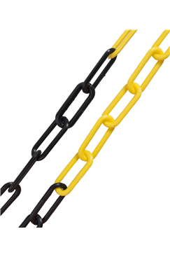 10mm YELLOW & BLACK Plastic Link Chain