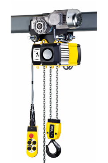 YALE 1000kg 3phase Electric Hoist c/w Powered Trolley