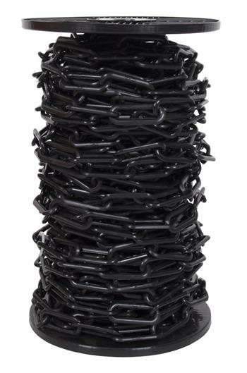 6mm BLACK Plastic Link Chain x 30mtr Reel
