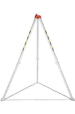 Aluminium Rescue Tripod c/w Integral Pulley wheel, Adjustable for confined space entry and rescue.