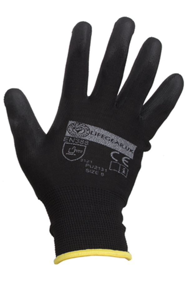 Black Nitrile Engineering Gloves Glove Pu2131