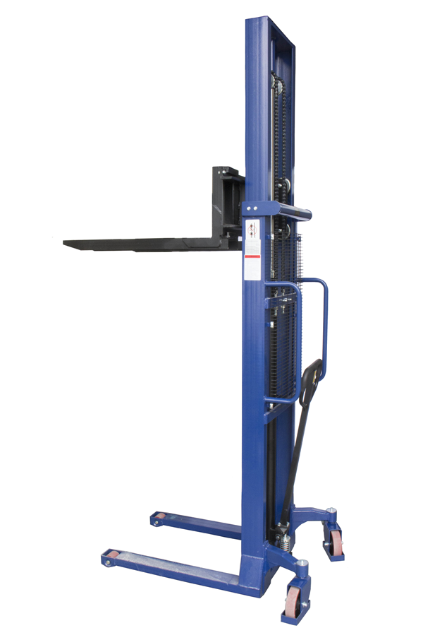 1000kg Manual Stacker Truck 3000mm Lift Height Stack