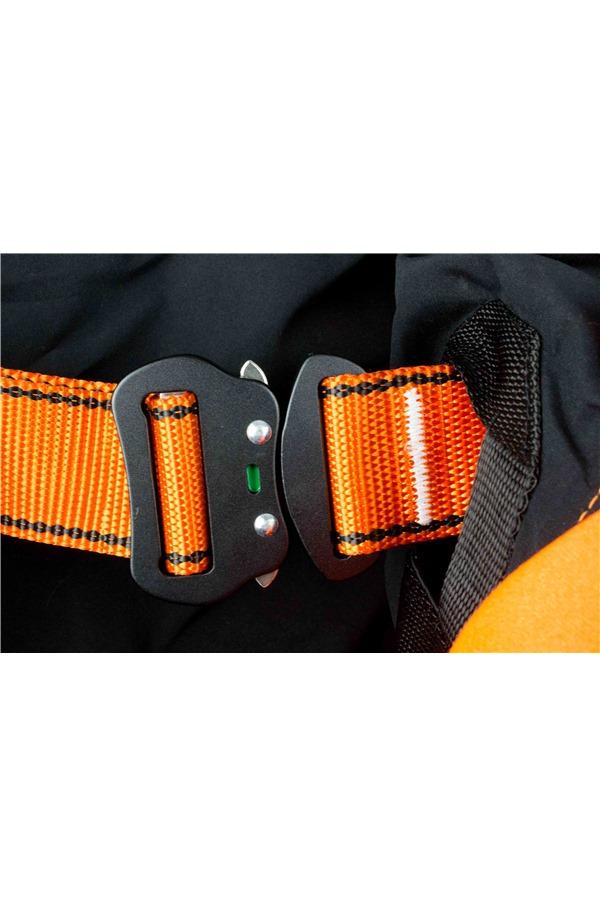 High Visibility Orange Jacket Safety Harness Elasticated