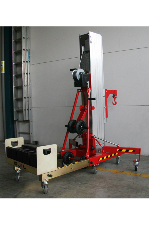 Material Lift Safety : Counter balance kg material lift mtr height