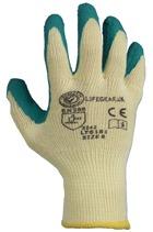 Builders Green Latex Grip Gloves