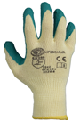 Green Latex Grip Builders Gloves