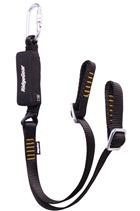 Ridgegear RGL16 Twin Leg Adjustable Webbing Lanyard & Shock Absorber