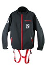 Clearance Black Jacket Safety Harness, Wind Breaker/Water Proof