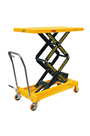 700kg Mobile Double Height Scissor Lift Platform Table Truck