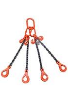 Weissenfel 4.25tonne 4-Leg Chainsling, Safety Hooks