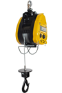 300kg 110volt Wire Rope Hoist c/w Hook Attachment