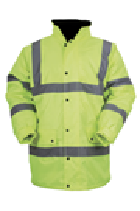 Hi-Viz Yellow Contractor Coat - Available M, L, XL