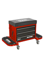 Sealey SCR18R Mechanic's Utility Seat & Toolbox - Red