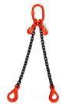 Weissenfel 2.8tonne 2-Leg Chainsling c/w Safety Hooks