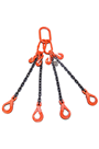Weissenfel 11.2tonne 4-Leg Chainsling, Safety Hooks