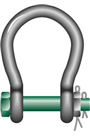 "Green Pin 9.5ton ""Wide Mouth"" Safety Pin Bow Shackle"
