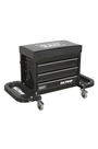 Sealey SCR18B Mechanic's Utility Seat & Toolbox - Black