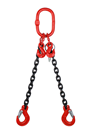 2.1 tonne 2Leg Chainsling, Adjustable and c/w Latch Hooks