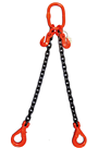 17 tonne 2-Leg ChainSling, Adjustable c/w Safety Hooks