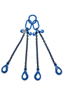 5.3 tonne Grade 100 4Leg Chainsling c/w Safety Hooks