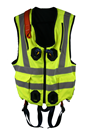 High Visibility Jacket Safety Harness Elasticated