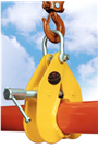 SUPERCLAMP 1524kg Pipe Lifting Clamp 101-178mm