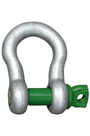 Green Pin 1.5ton Alloy Bow Shackle Screw Pin