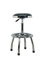 Sealey SCR17 Heavy Duty Pneumatic Workshop Stool with Adjustable Height Swivel Seat