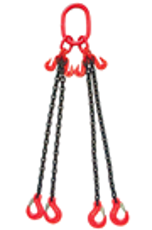 Weissenfel 3.15tonne 4-Leg Chainsling c/w Latch Hooks
