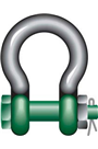 "Green Pin 12ton Safety Pin ""Polar"" Bow Shackle"