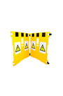 Addgards Supergard 2-panel Yellow/Black Safety Barrier