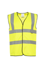 Yellow Hi Viz Waist Coat - Sizes M, L & XL - High Visibility