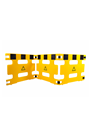 Addgards Handigard 4-panel Yellow/Black Safety Barrier