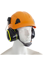 Climbing & Rope Access Safety Helmet c/w SNR33dB Premium Clip On Ear Defenders