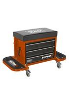 Sealey SCR18O Mechanic's Utility Seat & Toolbox - Orange