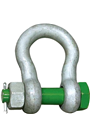 Green Pin 1.5ton Alloy Bow Shackle Safety Pin