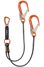 Heightec L2T ELITE Twin Lanyard - Tri-act c/w Scaffold Hooks