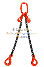 Ex-demo 4.25tonne 2-Leg Chainsling x 2mtr c/w Safety Hooks