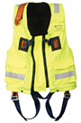 Clearance Yellow XXL Hi-Viz Jacket c/w Elasticated 2-point Harness