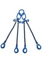 Ex-demo 8tonne Grade 100 4Leg Chainsling x 2mtr c/w Safety Hooks